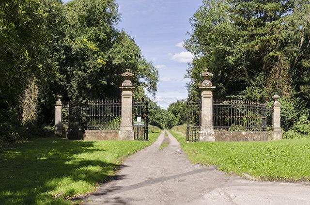 Gates to Ossington Hall and Church