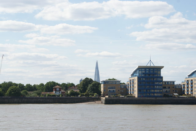 View of the Shard from the Thames Path