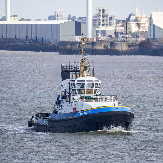 Tug 'Smit Sandon' on the River Mersey