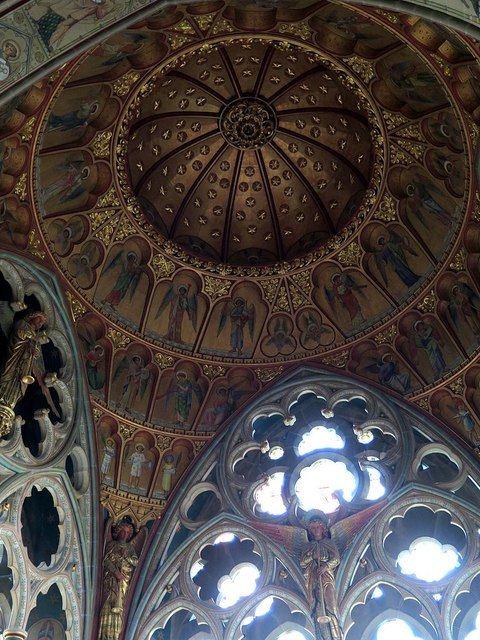 Chancel roof, St Mary's Church, Studley Royal