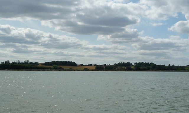Farmland on the south-west bank of the River Orwell