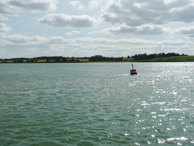 Collimer port buoy, Collimer Point, River Orwell