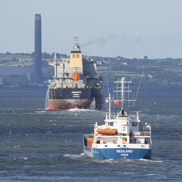 Ships departing Belfast