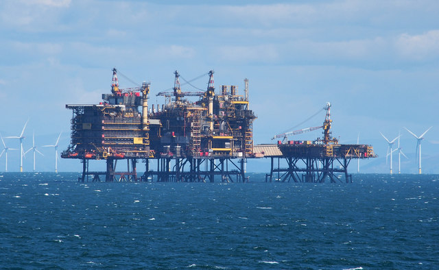 Offshore gas platforms, Morcambe Bay