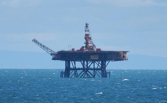 Offshore gas platform, Morcambe Bay