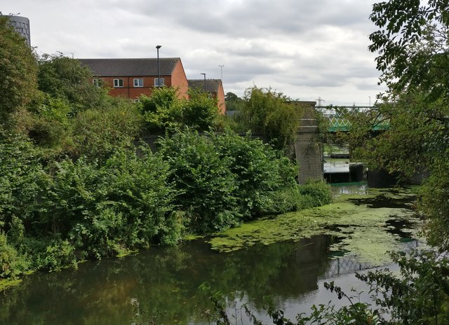 The Old River Soar in Westcotes, Leicester