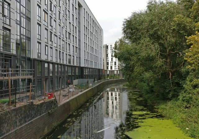 Construction along the Old River Soar