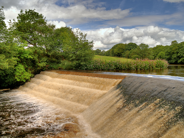 Weir at Burrs Country Park