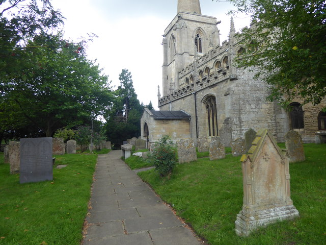 Path to the south porch, St Martin's Church, Ancaster