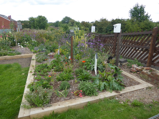 The station garden at Ancaster