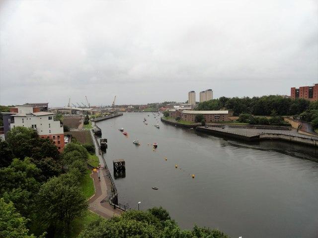 View downriver from Monkwearmouth Bridge