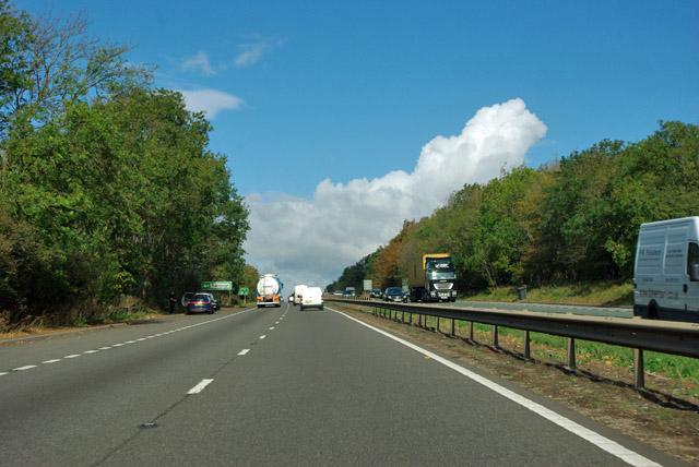 A1 northbound near Thornhaugh