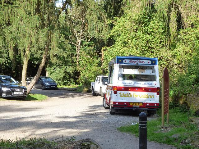 Ice cream van, Golden Acre Park