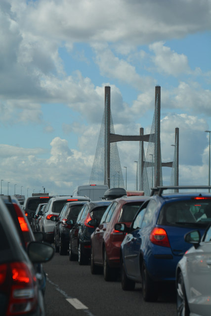 South Gloucestershire : The M4 Motorway - Second Severn Bridge