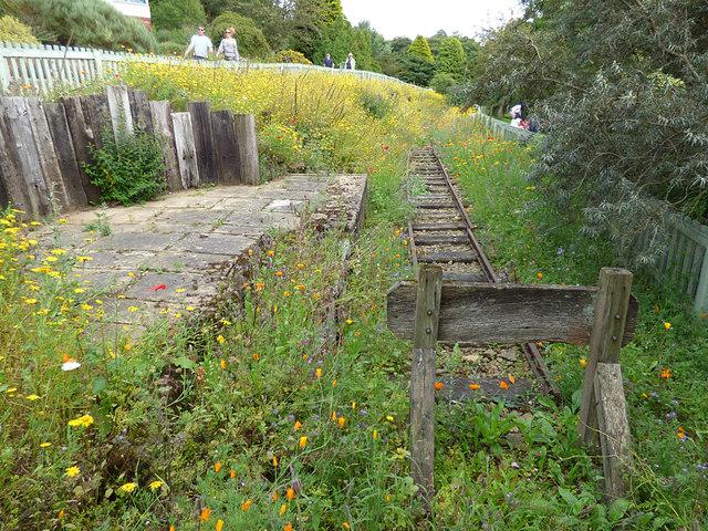 Recreated railway track, Golden Acre Park
