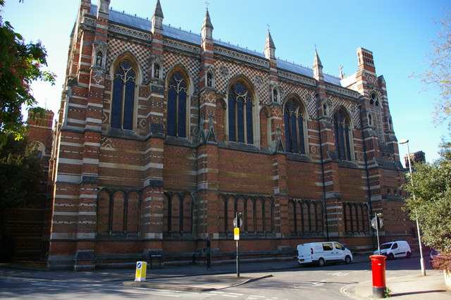 Keble College chapel from the north