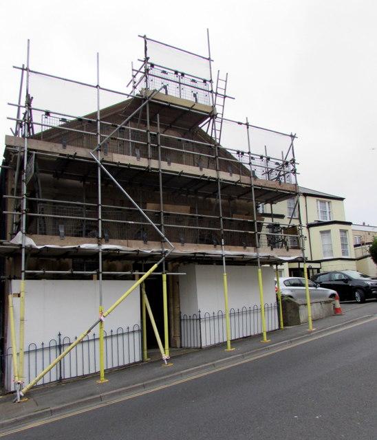 Masonic Temple under scaffolding, Ilfracombe