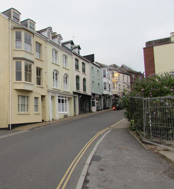 Northfield Road towards High Street, Ilfracombe