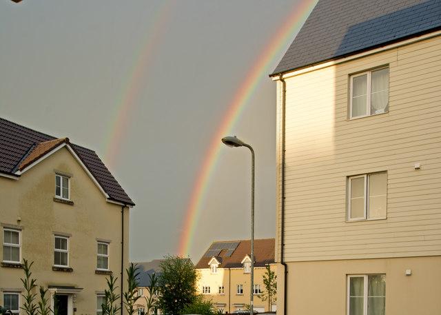 A double rainbow on Sampson's Plantation
