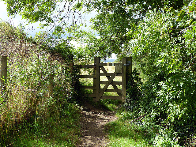 Gate above Polkerris on the South West Coast Path