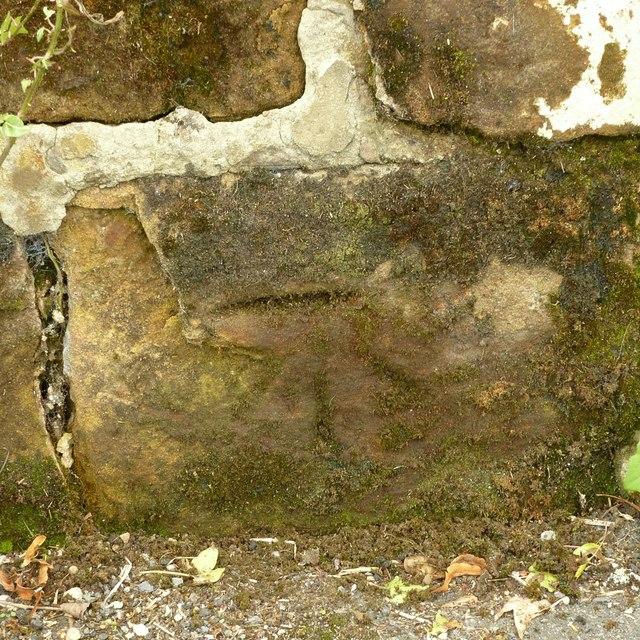 Bench mark, 2 The Ridings, Ockbrook