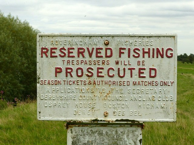 Fishing notice, Borrowash Bridge