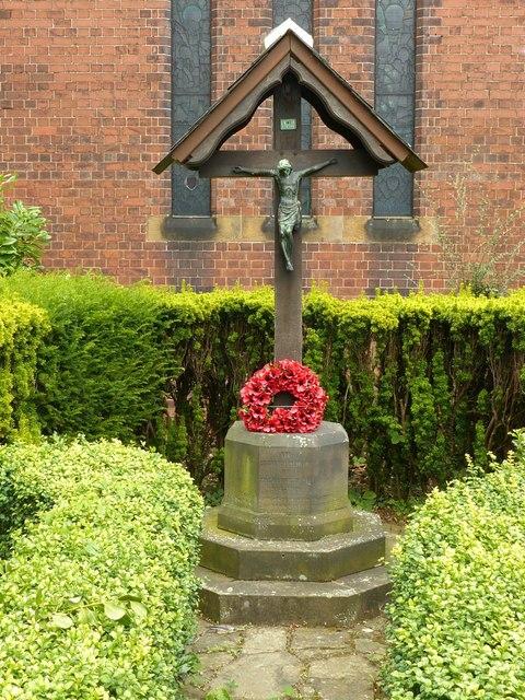 World War 1 memorial, St Stephen's Church, Borrowash