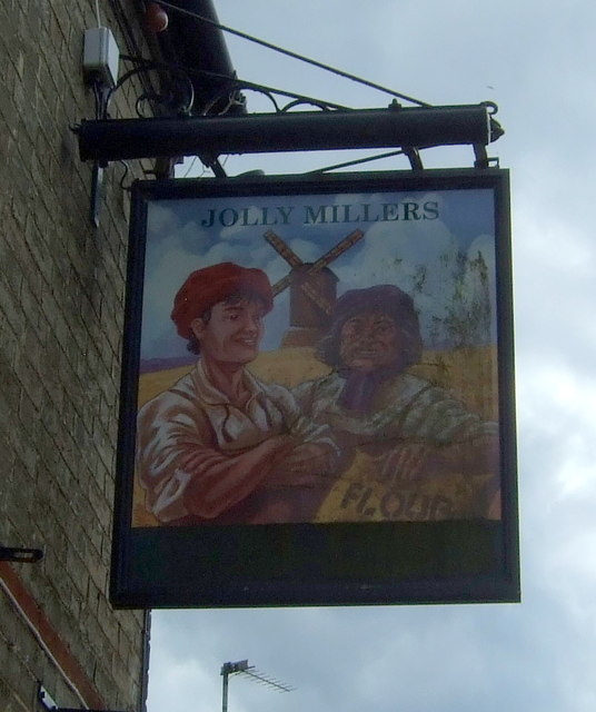 Sign for the Jolly Millers, Cottenham