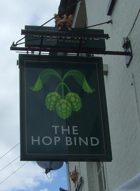 Sign for the Hop Bind public house, Cottenham