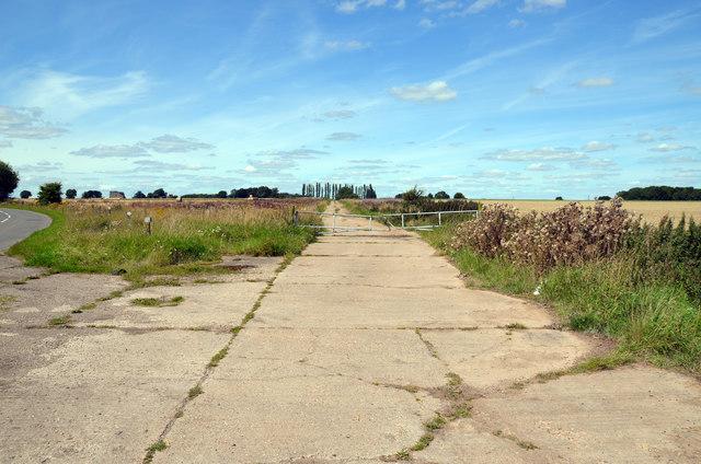 Old runway of RAF Ossington