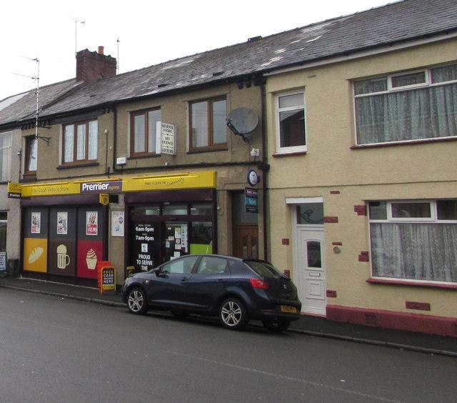 Premier Express convenience store, Church Road, Newport