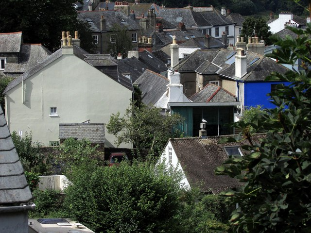 View over southern Totnes