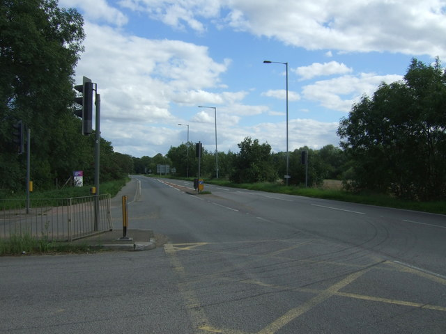 Road junction on the A10, Denny End