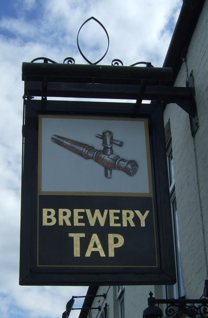 Sign for the Brewery Tap
