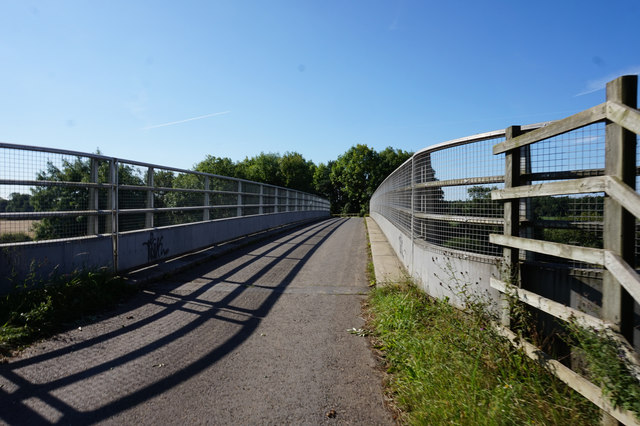 Forest Lane goes over the A64, York Bypass