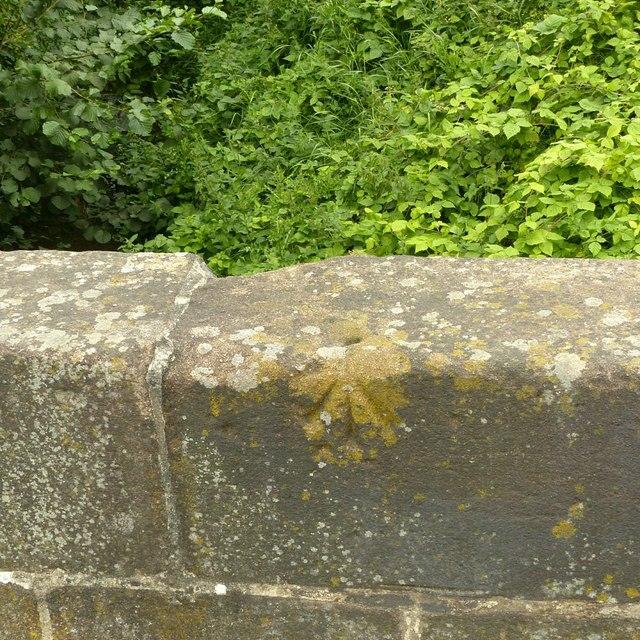 Rivet bench mark, Barnes's Bridge, Borrowash