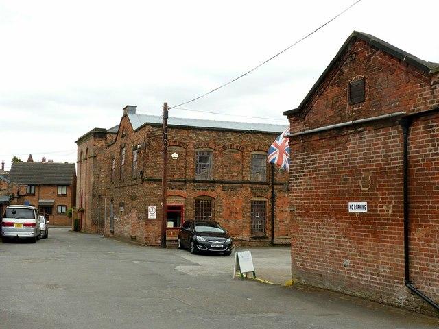 Draycott Mills, the main yard looking east
