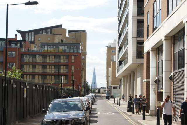 View of the Shard from Cuba Street #2