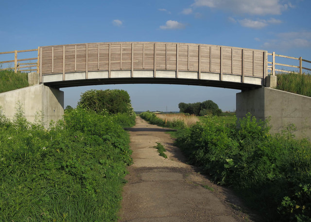 New pony bridge, Wicken Fen