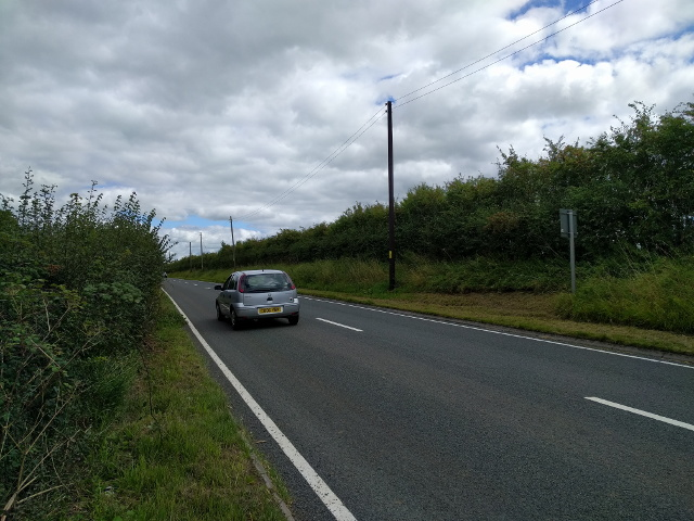 The A361 heading towards Burrowbridge, at West Lyng