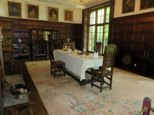 The dining room at Astley Hall