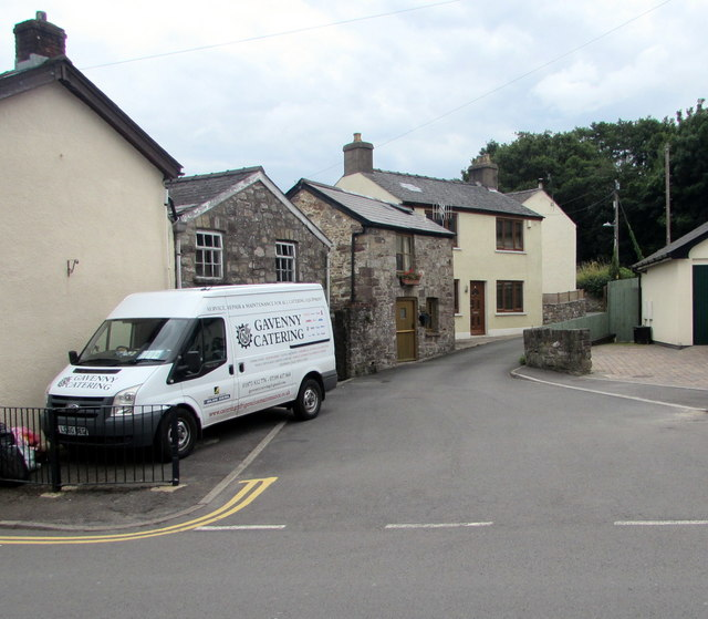 Gavenny Catering van on a Gilwern corner