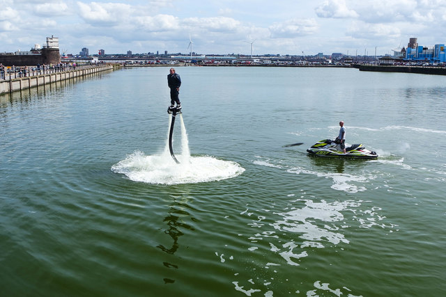 FlyBoarding at Marine Point Lake, New Brighton