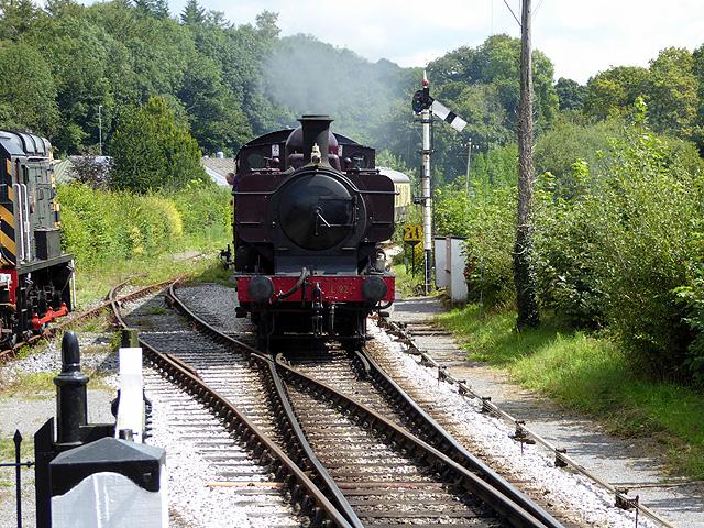 Train approaching Staverton Bridge