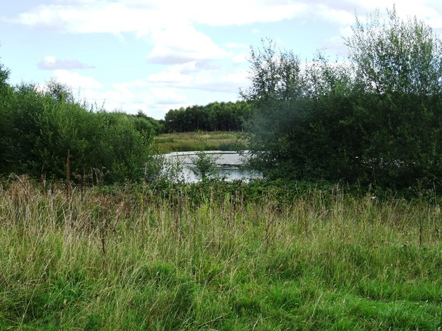Pool on the former opencast site