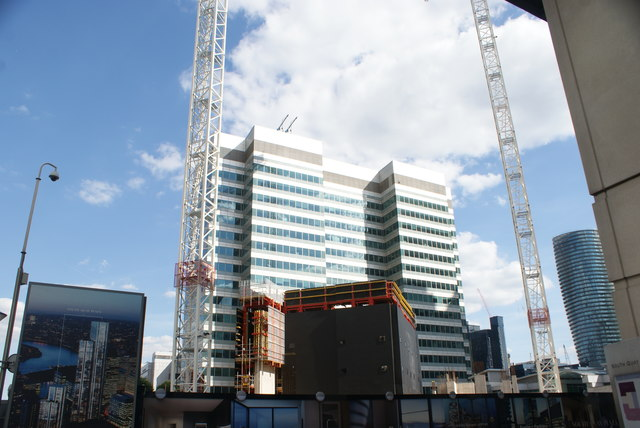 View of the Guinness World Record building from South Quay