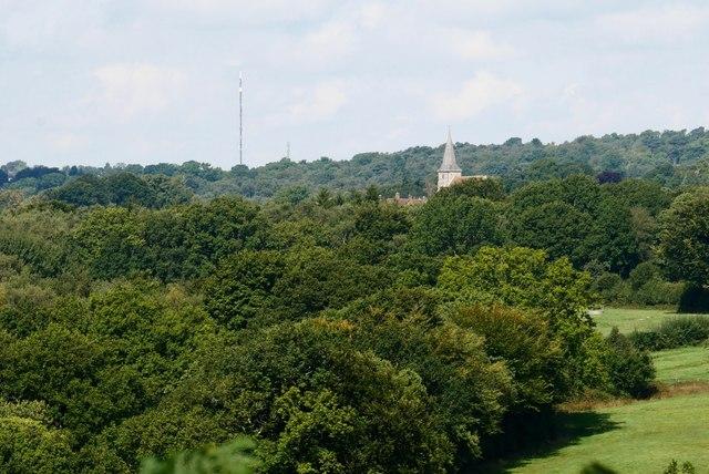 Heahfield Church with TV Mast behind