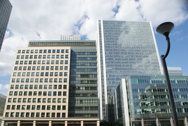 View of buildings in Canary Wharf from South Quay #6
