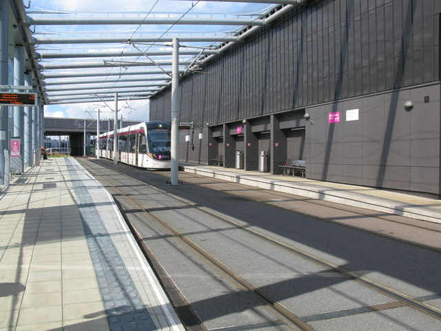 Edinburgh Gateway Tram Stop on the Edinburgh Tram Route