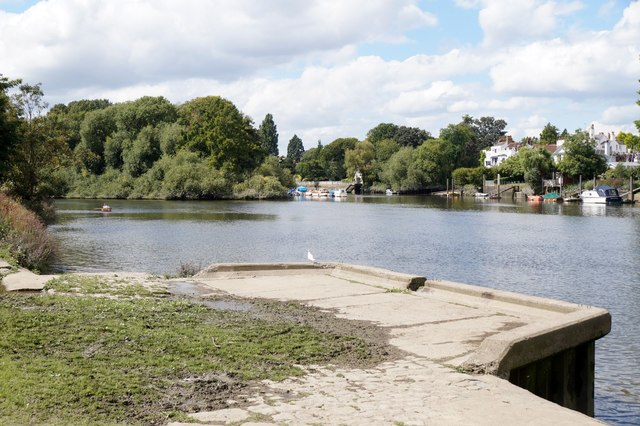 Landing stage on the Thames at Ham Street